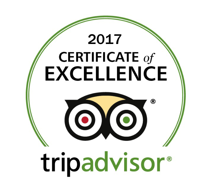 The Taffy Shop TripAdvisor certificate of excellence